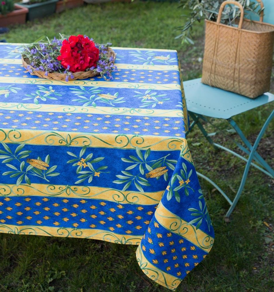 Cicadas Tablecloth Rectangular  Blue
